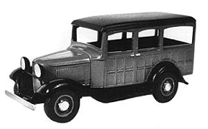 Wheel-Works 1932 Ford Station wagon Kit HO Scale Model Vehicle #96130