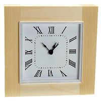 Walnut-Hollow Sutton Square Clock with Bezel Clock Making Accessory #27639