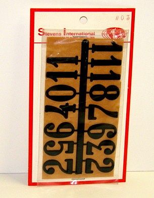 Walnut Hollow 1'' Black Arabic Numerals (Set of 12) -- Clock Making Accessory -- #3