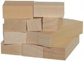 Walnut-Hollow Whittlers 10pc Basswood Block Assortment (Assorted 2'' & 4'' Blocks)