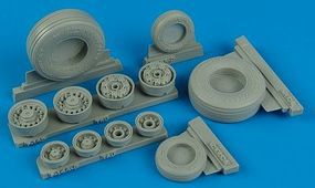 F14D Weighted Wheels for TSM Plastic Model Aircraft Accessory 1/32 Scale #132001