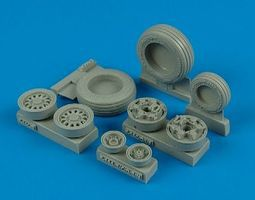 F16C/CJ Goodyear Weighted Wheels for TAM Plastic Model Aircraft Accessory 1/32 #132002