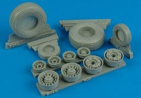 F14A Weighted Wheels for TAM Plastic Model Aircraft Accessory 1/32 Scale #132004