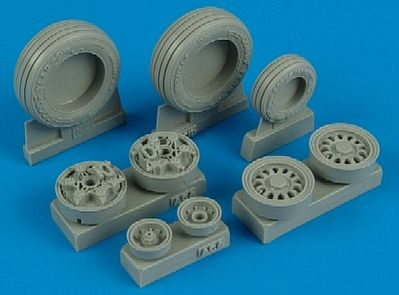 Wheelliant F16CG/CJ Goodyear Weighted Wheels for ACY -- Plastic Model Aircraft Accessory -- 1/32 -- #132005