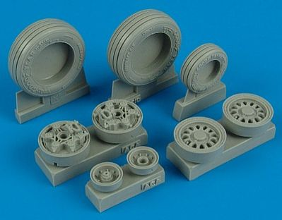 Wheelliant F16I Michelin Weighted Wheels for ACY -- Plastic Model Aircraft Accessory -- 1/32 Scale -- #132006