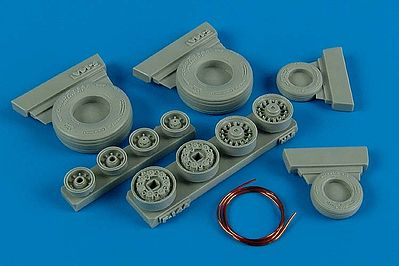 Wheelliant F14A Weighted Wheels for HSG -- Plastic Model Aircraft Accessory -- 1/48 Scale -- #148001