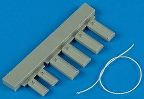 USAF/USMC Land Based Wooden-Type Wheel Chocks Plastic Model Aircraft Accessory 1/48 #148007