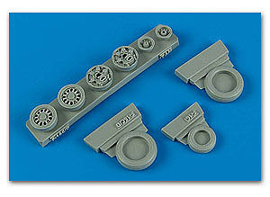 Wheelliant F16C (Block 40/50/60 ) Weighted Wheels -- Plastic Model Aircraft Accessory -- 1/48 -- #148009