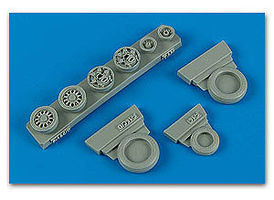 Wheeliant F16C (Block 40/50/60 ) Weighted Wheels Plastic Model Aircraft Accessory 1/48 #148009