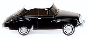 Wiking DKW Coupe Assembled Black & White HO Scale Model Railroad Vehicle #12501