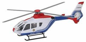Wiking Police Helicopter Assembled HO Scale Model Railroad Vehicle #2210