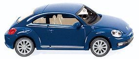 Wiking 2011 Volkswagen Beetle Assembled Reef Blue HO Scale Model Railroad Vehicle #2902