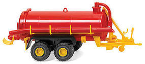 Wiking Vacuum Barrel Trailer Assembled Red & Yellow HO Scale Model Railroad Vehicle #38202