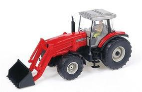Wiking Tractor Massey Ferguson MF 8280 w/Front Loader Red HO Scale Model Railroad Vehicle #38540