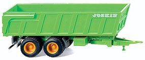 Wiking Joskin Dump Trailer Assembled Green, Red HO Scale Model Railroad Vehicle #38808