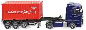 Wiking MAN TGX Euro 6 Tractor w/20 Container Trailer HO Scale Model Railroad Vehicle #52348