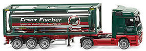 Wiking Mercedes-Benz Actros Tractor w/30 Tank Trailer HO Scale Model Railroad Vehicle #53603