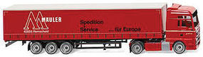 MAN TGX Euro 6 Tractor w/Canvas-Side Trailer HO Scale Model Railroad Vehicle #53707