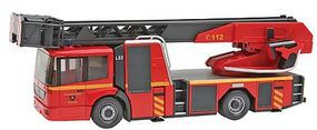 Wiking Emergency Mercedes Benz Econic Metz DL32 Fire Engine HO Scale Model Railroad Vehicle #62703