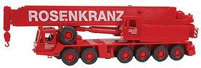 Wiking Grove TM 1100E Mobile Crane Rosenkranz Red HO Scale Model Railroad Vehicle #63204