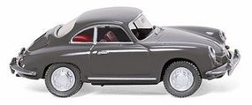 Wiking Porsche 356 Convertible (Gray) HO Scale Model Railroad Vehicle #81407