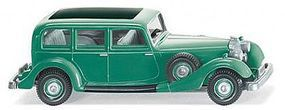 Wiking Horch 850 Sedan Patina Green HO Scale Model Railroad Vehicle #82504