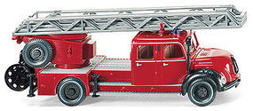 Wiking Fire Service Aerial Ladder HO Scale Model Railroad Vehicle #86234