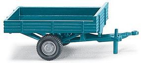 Wiking Single Axel Trailer blue - HO-Scale