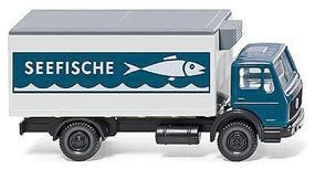 Wiking Mercedes-Benz Box-Body Reefer Truck Seefische N Scale Model Railroad Vehicle #94206