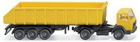 Wiking Mercedes-Benz Tractor w/Heavy-Duty Dump Trailer N Scale Model Railroad Vehicle #94805