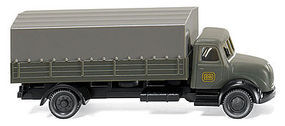 Wiking Magirus Flatbed Delivery Truck w/Tarp Cover N Scale Model Railroad Vehicle #94903