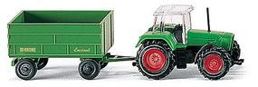 Wiking Farm Machinery Fendt Tractor with Trailer N Scale Model Railroad Vehicle #96001