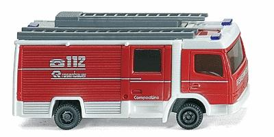 Wiking Rosenbauer Compactline LF10/6 CL Closed Cab Engine -- N Scale Model Railroad Vehicle -- #96401