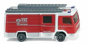 Wiking Rosenbauer Compactline LF10/6 CL Closed Cab Engine N Scale Model Railroad Vehicle #96401