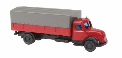 Wiking Magirus Canvas Covered Flatbed Truck N Scale Model Railroad Vehicle #96501