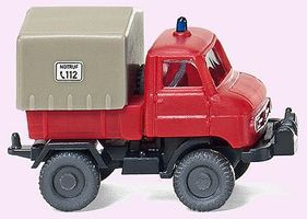 Wiking Unimog U 411 Delivery Truck Assembled Fire Department N Scale Model Railroad Vehicle #97202