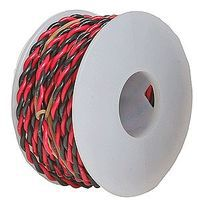 Wire-Works Two Conductor Hookup Wire #22 Gauge 30' (Black & Red) Model Railroad Hook-Up Wire #222070300