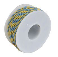 Wire-Works Two Conductor Hookup Wire #22 Gauge 30' (Yellow & Blue) Model Railroad Hook-Up Wire #222070304