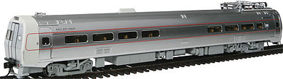WKW Metroliner 4-Car Set - Snack Bar, Parlor & 2 Coaches - Standard DC -- Pennsylvania (As-Delivered) Penn Central & Amtrak Patches