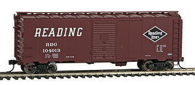 WalthersMainline 40 AAR 1944 Boxcar Reading #104013 HO Scale Model Train Freight Car #1683