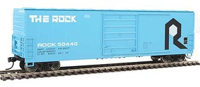WalthersMainline 50' Evans Smooth-Side Boxcar Ready to Run Rock Island #50440 (blue, black, white)
