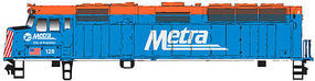 WalthersMainline EMD F40PH DCC METRA #128 HO Scale Model Train Diesel Locomotive #19459