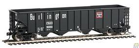 WalthersMainline 50 100-Ton 4-Bay Hopper - Ready to Run Chicago, Burlington & Quincy #160055 (black, white, red)