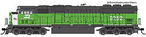 WalthersMainline EMD SD60M - SoundTraxx(R) Sound & DCC Burlington Northern #9265 (green, black, white, US flag)
