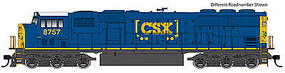 WalthersMainline EMD SD60M - SoundTraxx(R) Sound & DCC CSX #8767 (blue, yellow, white roof, Boxcar Logo)