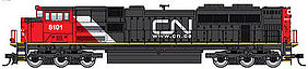 WalthersMainline EMD SD70ACe DCC Canadian National #8101 HO Scale Model Train Diesel Locomotive #19816