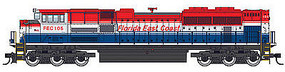 WalthersMainline EMD SD70ACe DCC - Florida East Coast #105 HO Scale Model Train Diesel Locomotive #19818