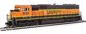 WalthersMainline EMD SD60M w/3-Piece Windshield ESU(R) Sound & DCC BNSF Railway 8129 (orange, green, yellow)