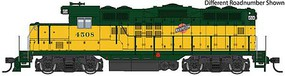 WalthersMainline EMD GP9 Phase II with Chopped Nose ESU(R) Sound and DCC Chicago & North Western(TM) 4506 (yellow, green, Railway logo)