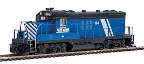 WalthersMainline EMD GP9 Phase II with Chopped Nose ESU(R) Sound and DCC Montana Rail Link #104 (blue, white, red, black)